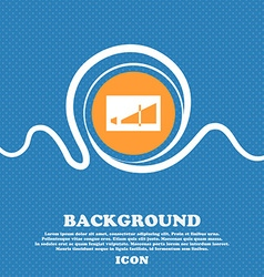Volume adjustment icon sign blue and white vector