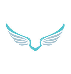 wing logo company vector image
