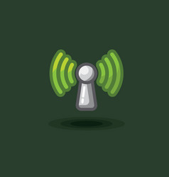 icon sign antenna wi fi free vector image