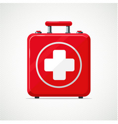 First aid kit isolated on white red box with vector