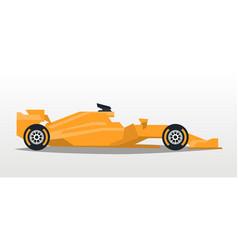 orange racing bolid sports car quick transport vector image