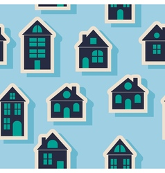 Seamless background with houses vector