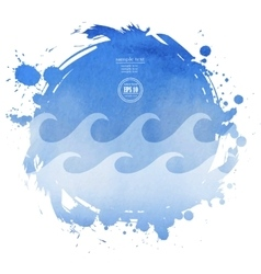 Sea watercolor background vector