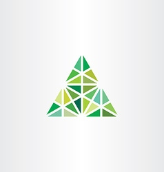 Abstract geometric green triangle icon vector