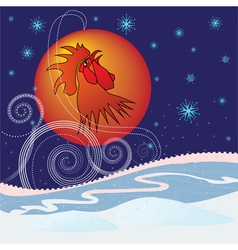 New year rooster vector