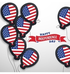 American patriotic flag balloons cut out from vector image