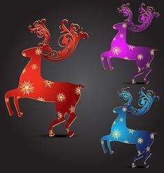 artistic deer vector image vector image