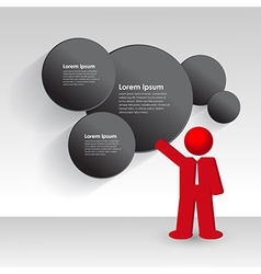 business man shows a business strategy vector image
