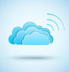 Cloud with Wifi symbol vector image vector image