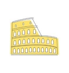 Coliseum building in rome vector
