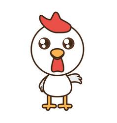 cute chicken toy kawaii image vector image
