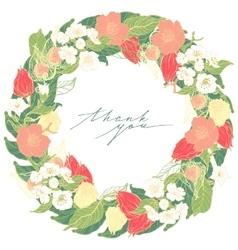 Floral ornamental in format vector image vector image
