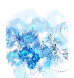 floral watercolor card vector image vector image