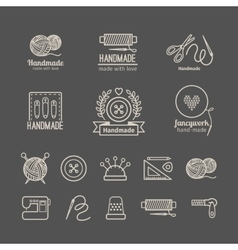 Handicraft logo set vector image