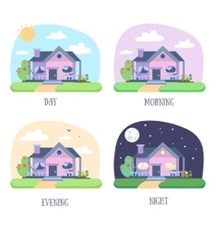 House Building Set vector image vector image