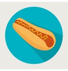 icon hot dog food design vector image