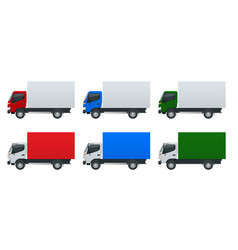 isometric cargo truck transportation fast vector image vector image