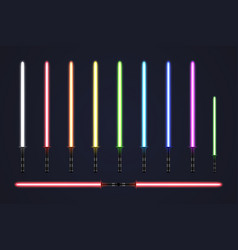light sabers vector image