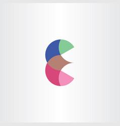 Logo letter icon e symbol design vector