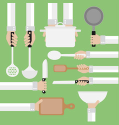 modern design concept flatcooking tools vector image vector image