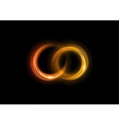 Neon light dark orange vector