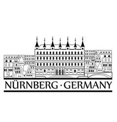 nurnberg city symbol old german nuremberg travel vector image vector image