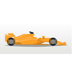 orange racing bolid sports car quick transport vector image