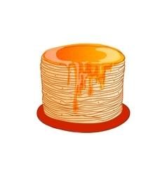 Pancake is a symbol of russian holiday maslenitsa vector