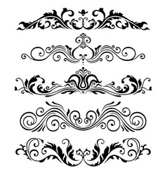 Retro victorian elements collection for vector
