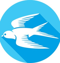 Swallow Bird Icon vector image