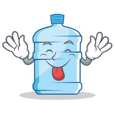 Tongue out gallon character cartoon style vector