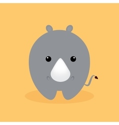 Cute cartoon rhino vector