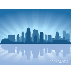 Kansas City Missouri skyline vector image