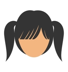 Woman female head avatar design vector