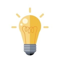 Electrical bulb icon in flat style design vector