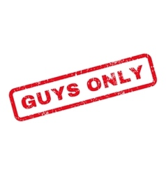 Guys only text rubber stamp vector