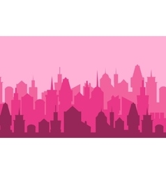 Set of cityscape background vector