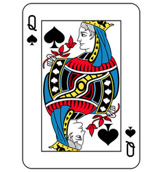 Queen of spades french version vector