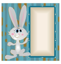 Bunny big-eyed rabbit with long ears vector
