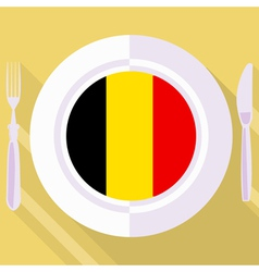 Kitchen of belgium vector