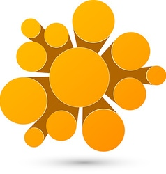 Bubble orange infographics design vector