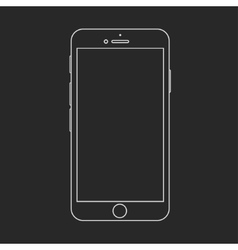 Modern smartphone isolated on black vector
