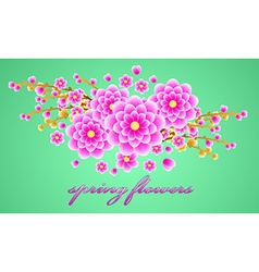 Delicate bouquet of spring forest flowers for your vector