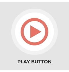 Play flat icon vector
