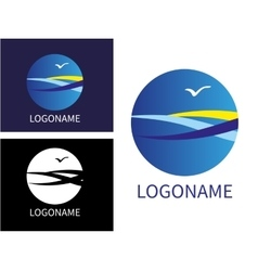 Design modern sea logos vector