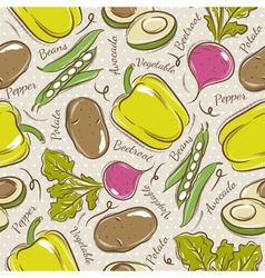 Background with pepper beans potato and avocado vector