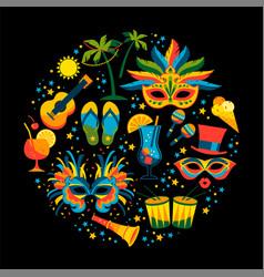 Brazilian carnival flat ilustration vector