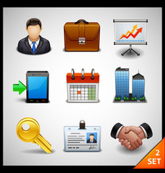 business icons - set 2 vector image
