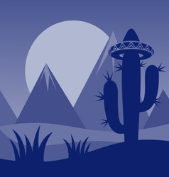Cactus background vector