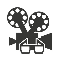 camera video with cinema icon vector image